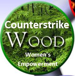 Counterstrike Wood Logo