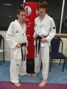 Bradley Yates (13) & John Crawford (15) Pass Their 1st Dan Taekwondo Blackbelts