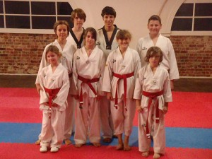 Happy Red Belts All Passing the seminar