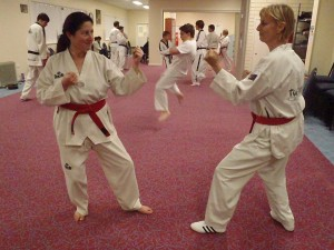 Maria Caserta & Helen Cole Practise Sparring