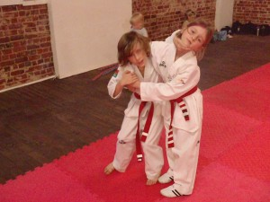Wade Morton Practises Self Defence with Indi Brown