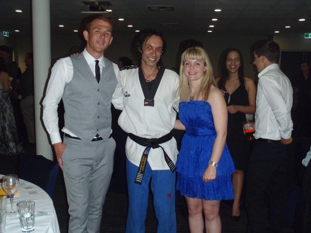 Chris, Master Justin Warren, & Jemillah Bickerton (Busselton Dunsborough Mail)