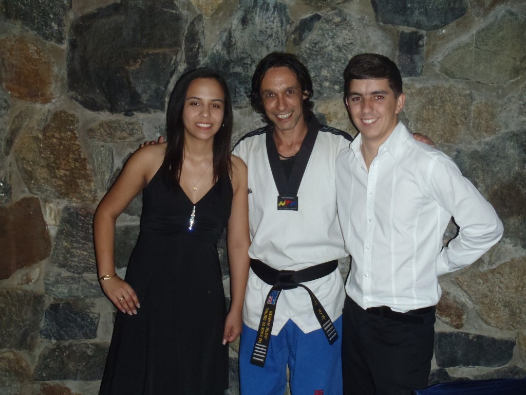 Master Justin Warren with 2 of the successfull YAP participants
