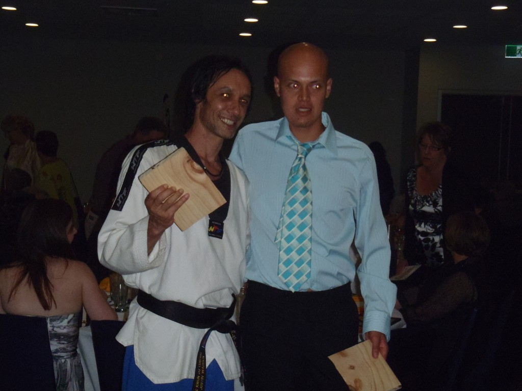 Master Justin Warren with Josh
