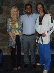 Melissa Warren, Akram Azimi & Master Justin Warren