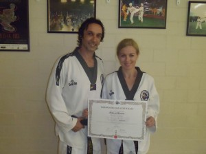 Melissa Warren passes her 4th Dan Blackbelt with Instructor & Husband Master Justin Warren