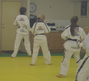 Taekwondo Central Blackbelts Grading Including Melissa Warren - 4th Dan, John Crawford - 2nd Dan, Amelia Dale - 2nd Dan