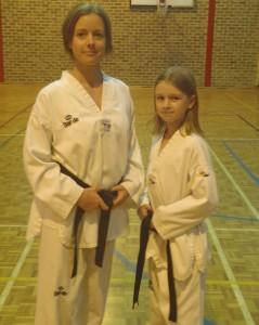 Maaike & Indi - Mother & Daughter Black Belts- www.tkdcentral.com
