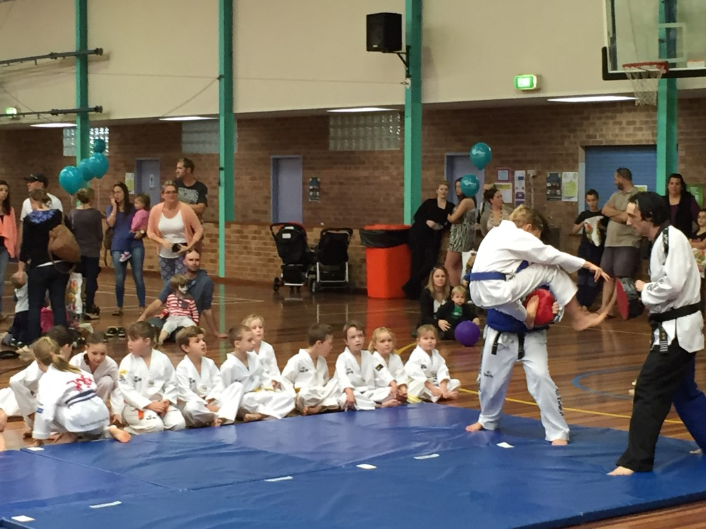 Thomas Cross With A Flying Twin Front Kick