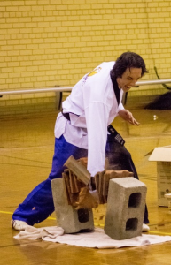 Master Justin Warren Smashes Roof Tiles With A Punch - www.tkdcentral.com