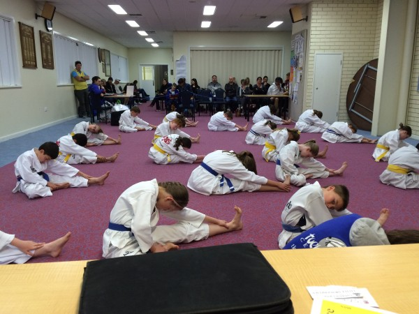 Bunbury Junior Warming Up For Grading