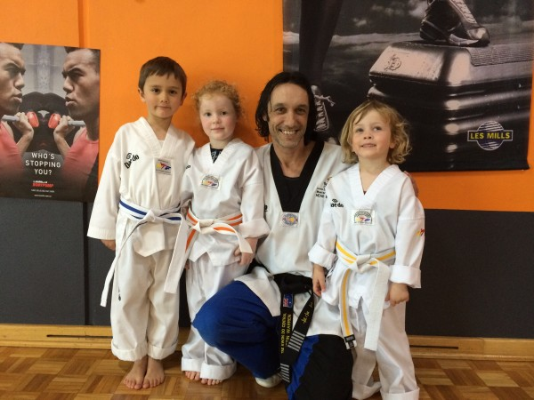 John, Izzy, Instructor Master Justin Warren and Jackson