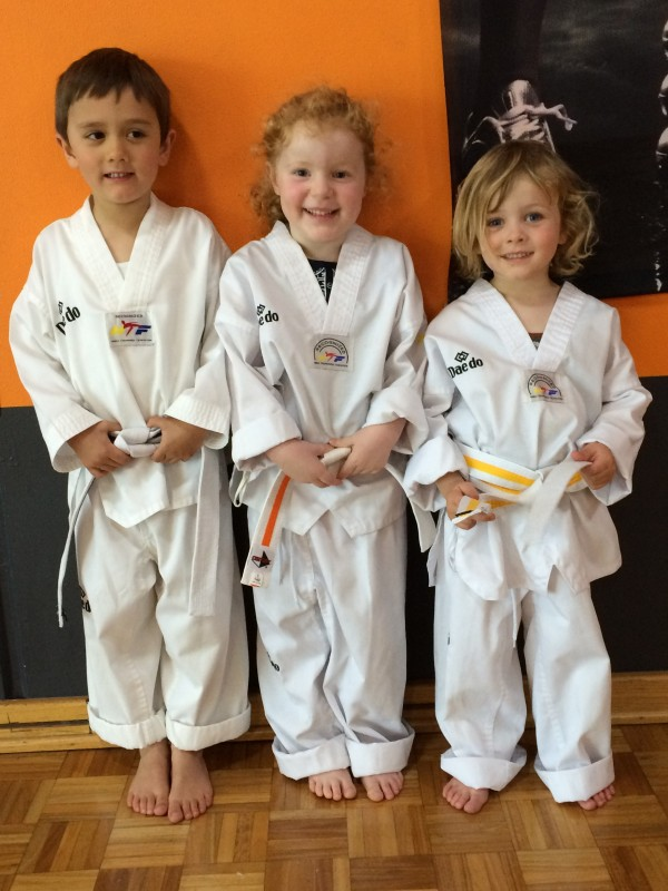 John, Izzy & Jackson pass their belt - heeya