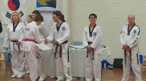 Declan Higgins presented his Black Belt Cewrtificate