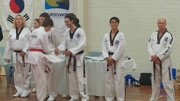 Declan Higgins presented his Black Belt Cewrtificate
