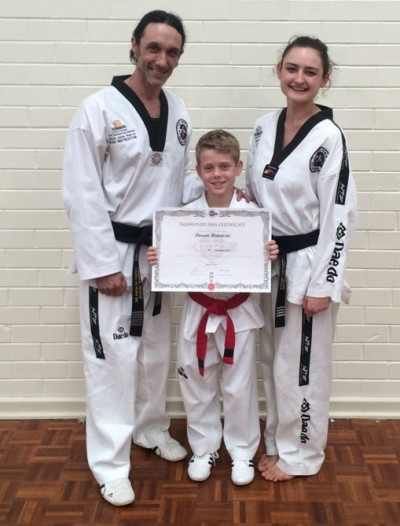 Justin Warren, Deacon Malatesta (With Black Belt Certificate)& Ajana Plunkett