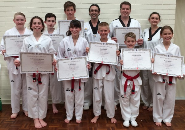 Taekwondo Central New Black Belts Dec 2016