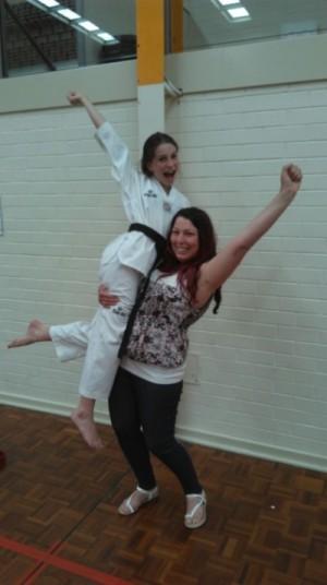 Tahlia Gowland with mum Deanna Celebrating