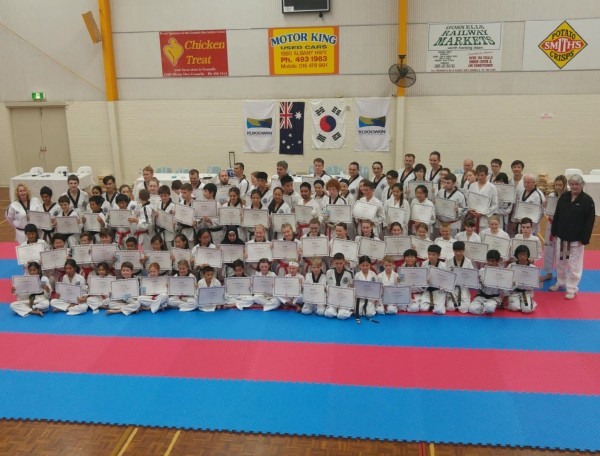 The Black Belt Grading Participants