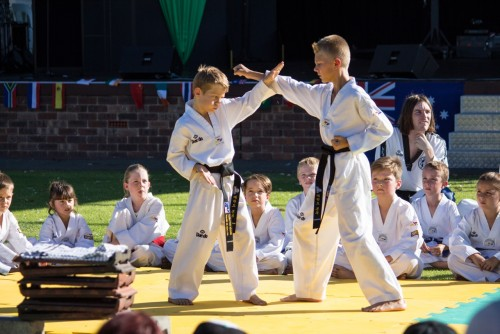 Deacon and Brent demonstrate Traditional Taekwondo