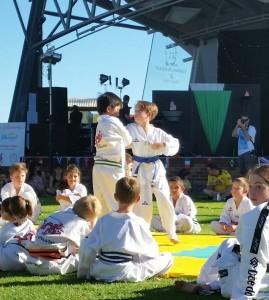 Lucas wraps up David during self defence