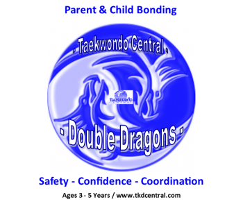 Double Dragon Logo - Full Detail
