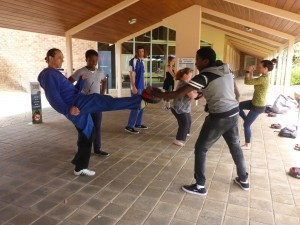 ECU students Joined in the fun with Master Justin Warren - ECU Wellness Day - www.tkdcentral.com