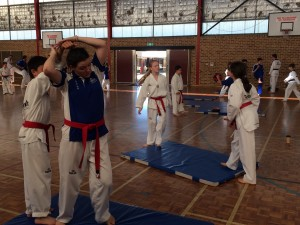 Preparing For Black Belt - Rachel Atkinson & Kian Stapleton going through self defence - www.tkdcentral.com