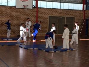 Preparing For Black Belt. Ajana takes the team