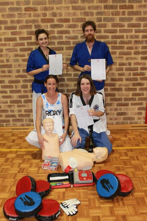 Sports Injuries - Instructors & Leadership Team With Certificates - Ajana Plunkett, Luke Crane, Kelly Platts, John Crawford - www.tkdcentral.com
