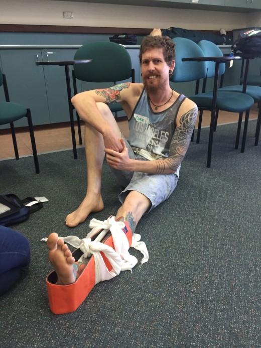Sports Injuries - Luke Crane - Looks Painfull Luke!!!