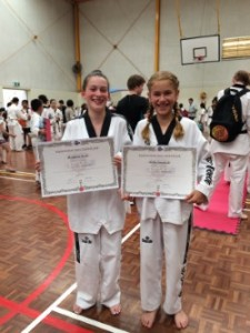 Maddison booth & Mollie Swarbrick Proudly Show Their Certificate