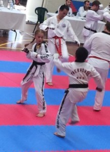 Mollie Swarbrick in action at the Black Belt Grading - www.tkdcentral.com