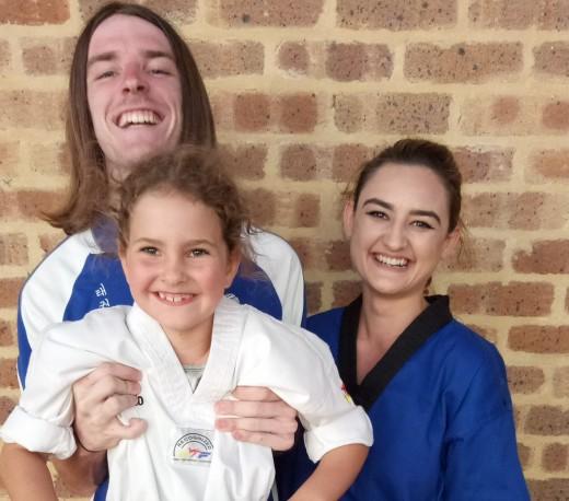 John, Alicia and Ajana after the Grading