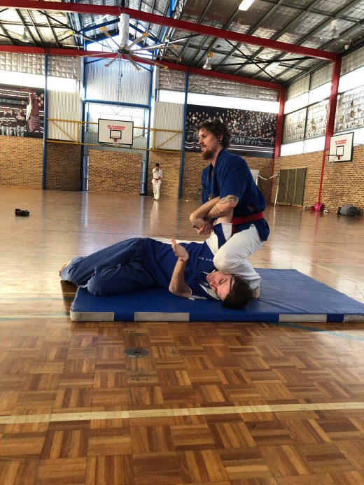 Luke Crane Wrist Locks Up Instructor John Crawford during SHP2018 Grading