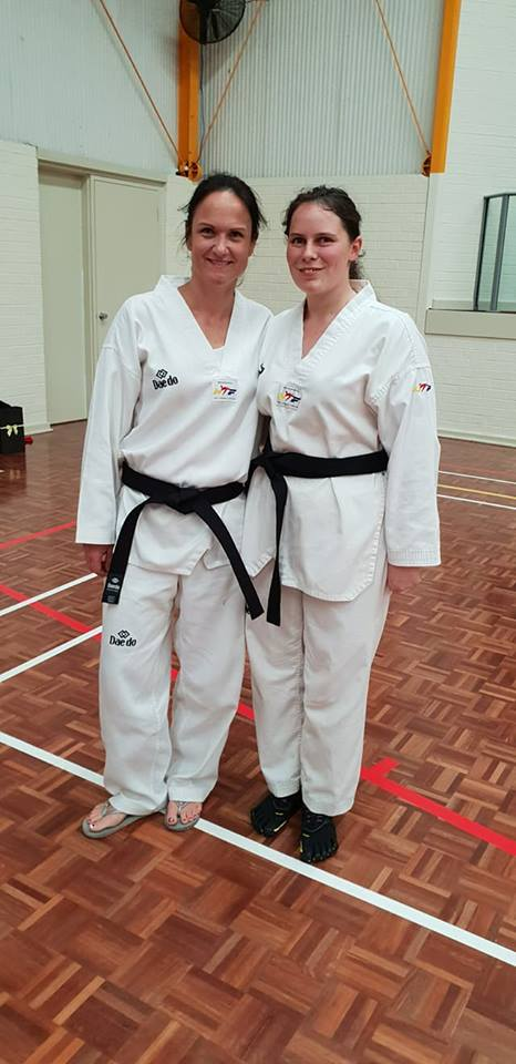 Mel Buhlman & Rebecca Collis Pass Black Belt