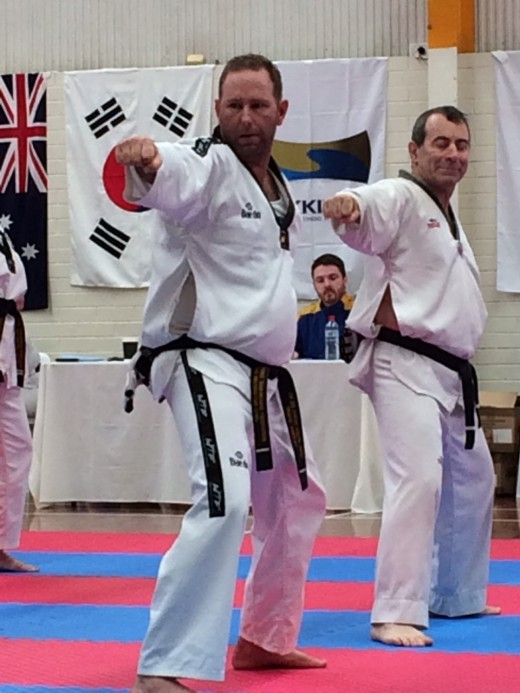 Travis Mackay doing Poomsae for his Black Belt Grading - www.tkdcentral.com