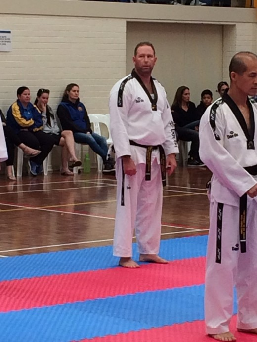 Travis Mackay starting 2nd Dan Blackbelt Grading