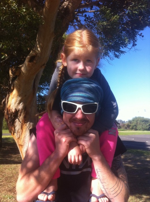 Assistant Instructor Luke Crane with Daughter Remy - www.tkdcentral.com.