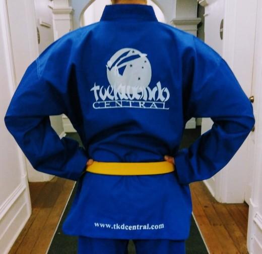 Coloured Belt Blue Top Back Shot