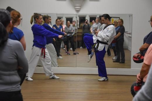 Counterstrike 2018 Bunbury - Master Justin Warren Teaches Proper Kicking with Kelly Rowe - www.tkdcentral.com