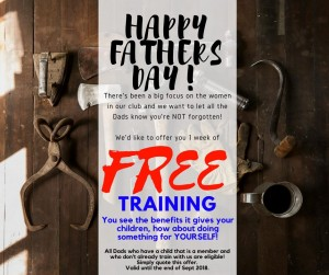 Free Training Voucher for Fathers Day