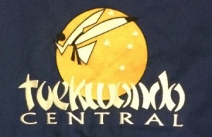 Taekwondo Central Blue Top Back Logo Shot