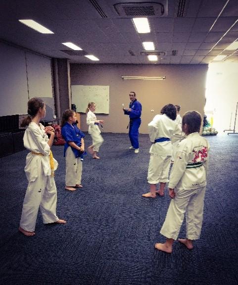 Master Justin Warren guides Paragon Program Members through Their Belt Examination - www.tkdcentral.com
