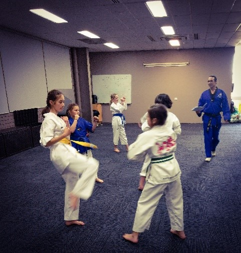Saphyre & Kyah Goodall during their Belt Grading - www.tkdcentral.com
