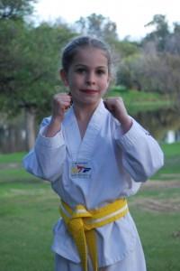 Tahlia Gowland as a Yellow Dragon