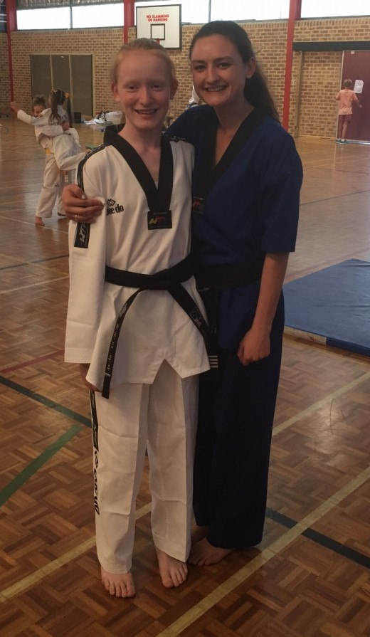 Trinity Best with Head Instructor Ajana - www.tkdcentral.com