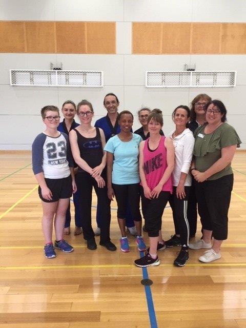 Getting A Group Shot After Week 3 - ECU Self Defence - www.tkdcentral.com