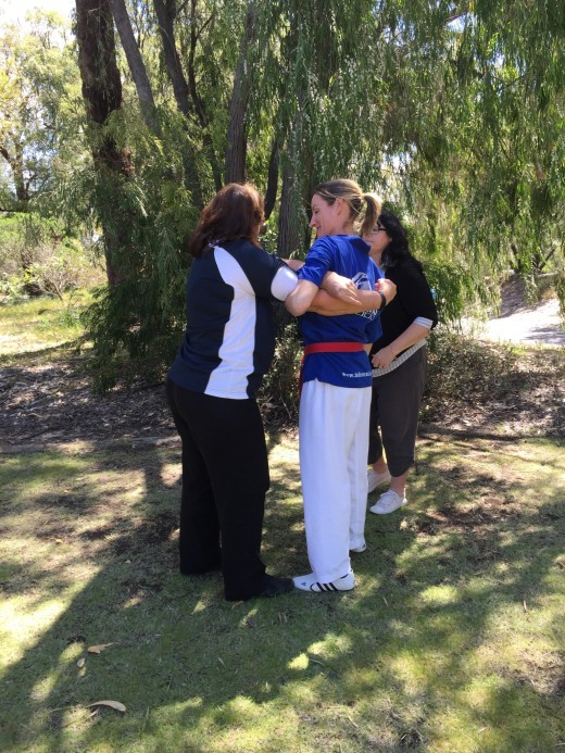 Learning How To Arm Wrap For Self Defence - ECU Self Defence - www.tkdcentral.com