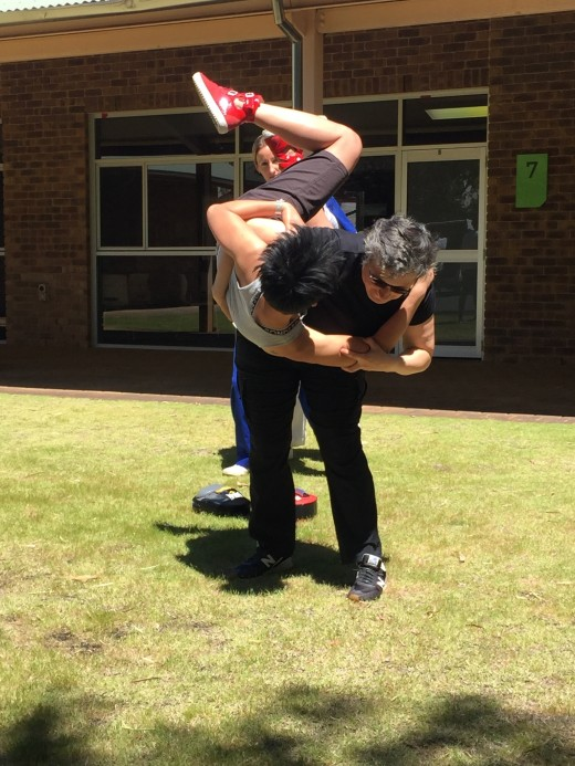 Learning How To Throw A Person On The Ground - ECU Self Defence - www.tkdcentral.com